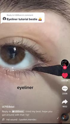 Makeup Tutorial Eyeliner, Makeup Looks Tutorial, No Eyeliner Makeup, Skin Makeup, Doll Eye Makeup, Grunge Makeup Tutorial, Eyeliner Ideas, Eye Makeup Art, Makeup Inspo
