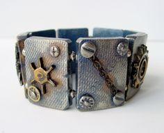 polymer clay tile bracelet