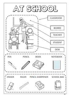 English Activities For Kids, English Worksheets For Kids, English Lessons For Kids, Kids English, School Worksheets, English Class, English Words, Learn English, Education English