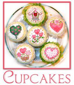 Needlepoint cupcakes!