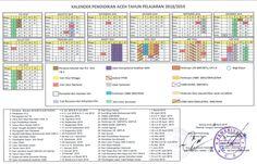 Kalender Pendidikan (KALDIK) Provinsi Aceh Tahun 2018/2019 Microsoft Excel, Antara, Entertainment System, Over The Years, Periodic Table, Investing, Education, Crafts, Diy