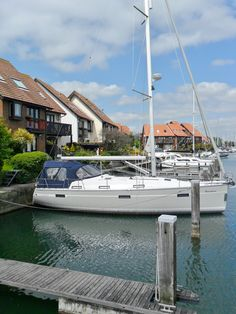 ~Yachts moored at Hythe marina, Hythe, New Forest, Hampshire, England~