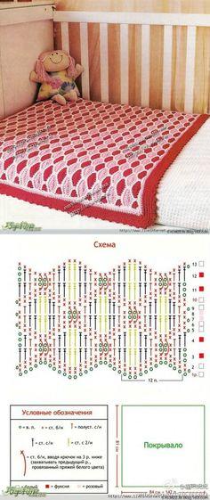 Croche blanket Crochet Square Blanket, Crochet Stitches For Blankets, Crochet Squares, Baby Blanket Crochet, Crochet Baby, Knit Crochet, Afghan Blanket, Blanket Stitch, Crochet Diagram
