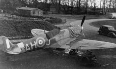 Finn Thorsager MkVc Spitfire at Catterick, 1942.