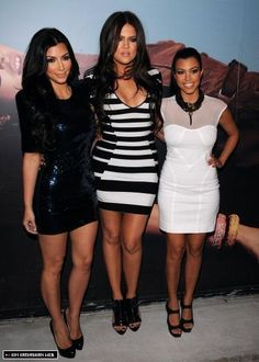Kim, Khloe, & Kourtney - Love them or hate them, they are true style icons