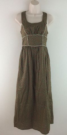 MISS CHIEVIOUS Olive Green Cat Print White Piping Retro Style Maxi Dress 4 5 #MissChievous #Maxi #Casual