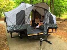 Folding Camper Tent & Utility ATV Trailer Motorcycle Camp Camping Popup Pop up for sale online Best Tents For Camping, Camping Car, Family Camping, Camping Hacks, Outdoor Camping, Camping Ideas, Camping Store, Camping Guide, Camping Checklist