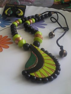 Terracotta Necklace Polymer clay necklace by colorsofclay on Etsy