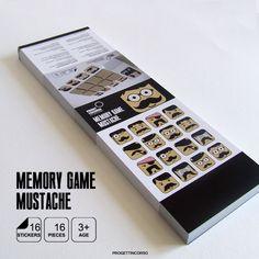 Etichetta Memory Game Mustache by progettincorso