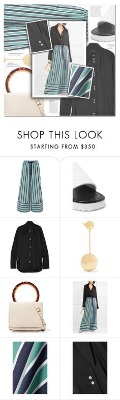 """""""Wide-Leg Pants #3"""" by iamasunshine ❤ liked on Polyvore featuring Fendi, Loewe, E L L E R Y, J.W. Anderson, Marni and Anja"""