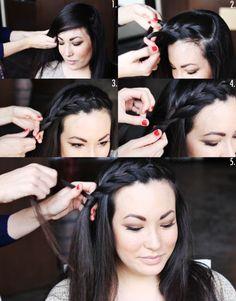 Cute bang braid.