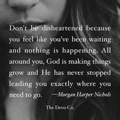 Don't be disheartened, God is making things grow all around you