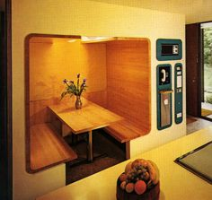 supremeinteriors:   BUILT-INS | Time Life Books... - [muted screaming] 1960s Interior Design, Interior Design Kitchen, Retro Home, Futuristic Interior, Futuristic Design, Futuristic Furniture, 1970s Decor, Vintage Decor, Vintage Style