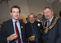 Dan Jarvis MP, Dickie Bird and Mayor Cllr Tim Shepherd lend a hand to launch the Cooper 100 Appeal on 31st July
