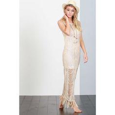 4c238ef2b7 Distresssed Knit Maxi Dress - Cover Up