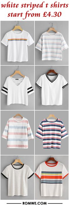 white striped t shirts from £4.30
