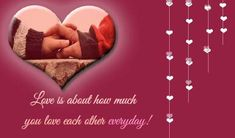 Send romantic ecard to your love and express your deepest feelings! Free online Love Each Other Everyday ecards on Love Valentines Day Hearts, Happy Valentines Day, Qoutes About Love, Love Quotes, Foto Text, Email Cards, I Love You Honey, I Adore You, Love Each Other