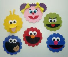 Sesame Street Birthday Party Decorations by 2CheekyChicks on Etsy, $0.50