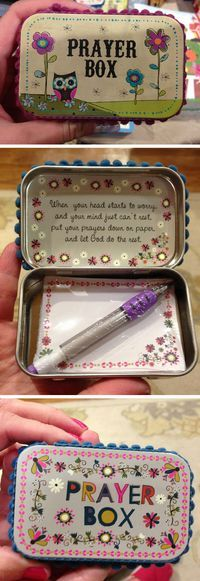 DIY Altoid Tin Prayer Boxes | Click Pic for 18 DIY Christmas Gift Ideas for Kids | Handmade Christmas Gifts for Girls