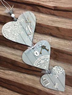 Clay Crafts, Wood Crafts, Fun Crafts, Hobbies And Crafts, Arts And Crafts, Decoupage, Pottery Houses, Handmade Gift Tags, Heart Crafts