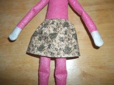 Christmas Elf doll skirt tan with green flowers by on Etsy Christmas Elf Doll, Green Flowers, Dolls, Skirts, Etsy, Clothes, Fashion, Outfit, Moda