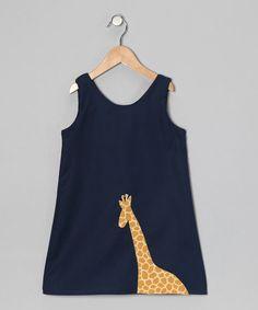 Navy Giraffe Dress by Dapple Gray Designs // @Nicole Lemperle Correia