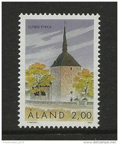 MINT STAMPS - SUNDS CHURCH - 1994 - ALAND - ** / MNH -- - Delcampe.net