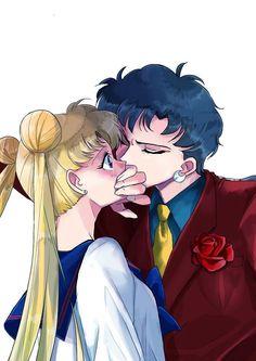Sailor Moon - Seiya Kou x Usagi Tsukino - SeiUsa Sailor Moon Sailor Stars, Sailor Moon Manga, Sailor Moon Crystal, Arte Sailor Moon, Sailor Venus, Sailor Scouts, Sailor Moon Personajes, Sailor Moon Aesthetic, Sailor Moon Wallpaper