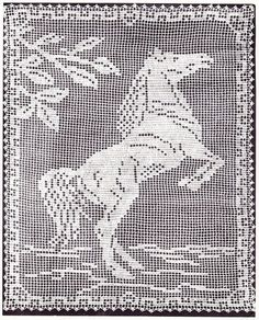 Horse Filet Crochet Pattern