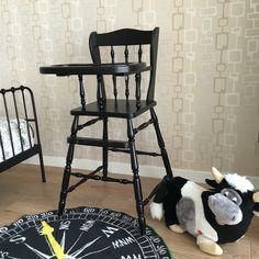 Vintage ahşap mama sandalyesi ...