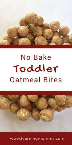 No Bake Toddler Oatmeal Bites Just 4 Simple Ingredients! No bake toddler oatmeal bites for the independent and picky toddler eater! An easy way to have your toddler or older baby feed themselves grain and protein. Source by cocoonapothecary Healthy Toddler Meals, Kids Meals, Toddler Dinners, Healthy Food, Toddler Lunches, Healthy Cooking, Healthy Lunches, Healthy Recipes, Detox Recipes