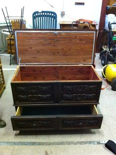 Lane Hope Cedar Chest with Drawer-Mike just bought me one of these today, I can't wait to refinish it!