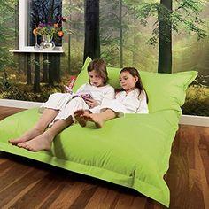 Giant Bean Bag Floor Cushion Beanbag Lounger Green