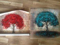 Feitas à mão Pintura A Óleo Sobre Tela Árvore Flor Vermelha Pintura A Óleo Abstrata Moderna da Arte Da Parede Da Lona Sala de estar Decoração Imagem Loja Online   aliexpress móvel