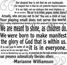 our deepest fear marianne williamson