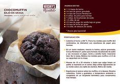 Disfruta de una deliciosa receta preparada con Cocoa Hershey's®. #Tips #Postres #Hershey #Muffin #Chocolate #Receta #Recetario