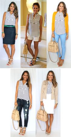 Today's Everyday Fashion: Striped Top - 5 Ways