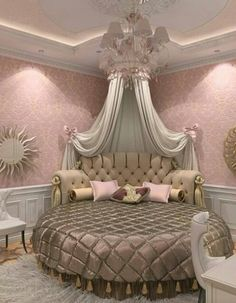 This is a Bedroom Interior Design Ideas. House is a private bedroom and is usually hidden from our guests. However, it is important to her, not only for comfort but also style. Much of our bedroom … Dream Rooms, Dream Bedroom, Master Bedroom, Fancy Bedroom, Bed Design, House Design, Royal Bedroom, Feminine Bedroom, Bedroom Romantic