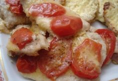 Mozzarellás - paradicsomos csirke