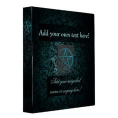 Beautiful pentacle book of shadows/grimoire 3 ring binders. Completely customizable.