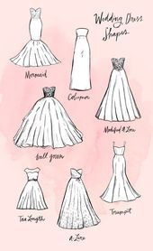 Wedding dress shapes and silhouettes - nature - fashion - travel passion - hand . - Wedding Dress Shapes and Silhouettes – Nature – Fashion – Travel Passion – Crafts Wedding D - Wedding Dress Shapes, Wedding Dress Silhouette, Diy Wedding Dress, Fashion Silhouette, Sweetheart Wedding Dress, Hair Wedding, Diy Dress, Mermaid Sweetheart, Dress Ideas