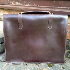Leather Man Bag x Briefcase l Brown by VaskaStudio on Etsy