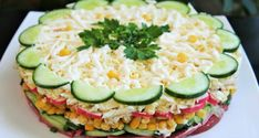 """Super delicious puff pastry salad """"New"""" Ñ .- Super delicious puff pastry salad """"New"""" Ñ … – салаты – # puff pastry salad # Ñ - Thai Chicken Recipes, Leftover Chicken Recipes, Ground Chicken Recipes, Zucchini, Pasta, Vegetables, Youtube, Foods, Salads"""