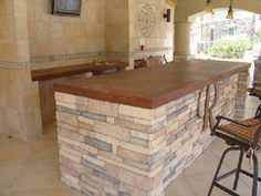 Concrete Bar Top - brown