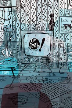 """""""Oh Yeah!"""" TV illustrated by Tim Biskup by Fred Seibert, via Flickr"""