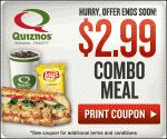 Quiznos - $2.99 Small Combo Deal
