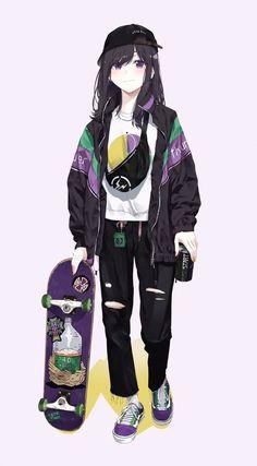 Cool Anime Girl, Pretty Anime Girl, Cute Anime Pics, Beautiful Anime Girl, Kawaii Anime Girl, Anime Art Girl, Manga Girl, Anime Tomboy, Tomboy Art
