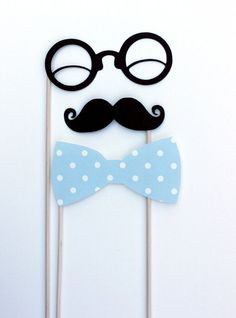 Photobooth Props. Photo Prop. Wedding Photo Props on a Stick - Mustashe, Lips and Mask Set