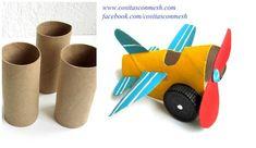 Crea junto con los peques de casa esta divertida avioneta reciclando cartón.