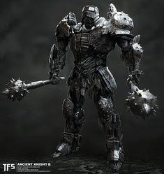 Transformers The Last Knight Concept Art Shows Early Set Piece Scene Design Transformers 5 Movie, Transformers Characters, Transformers Optimus Prime, Armor Concept, Weapon Concept Art, Gi Joe, Last Knights, Fantasy Armor, Fantasy Characters